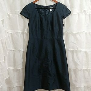 DRESS BARN Faux Denim Cap Sleeve Midi Dress Sz8